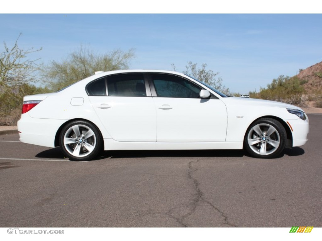 alpine white 2009 bmw 5 series 528i sedan exterior photo. Black Bedroom Furniture Sets. Home Design Ideas