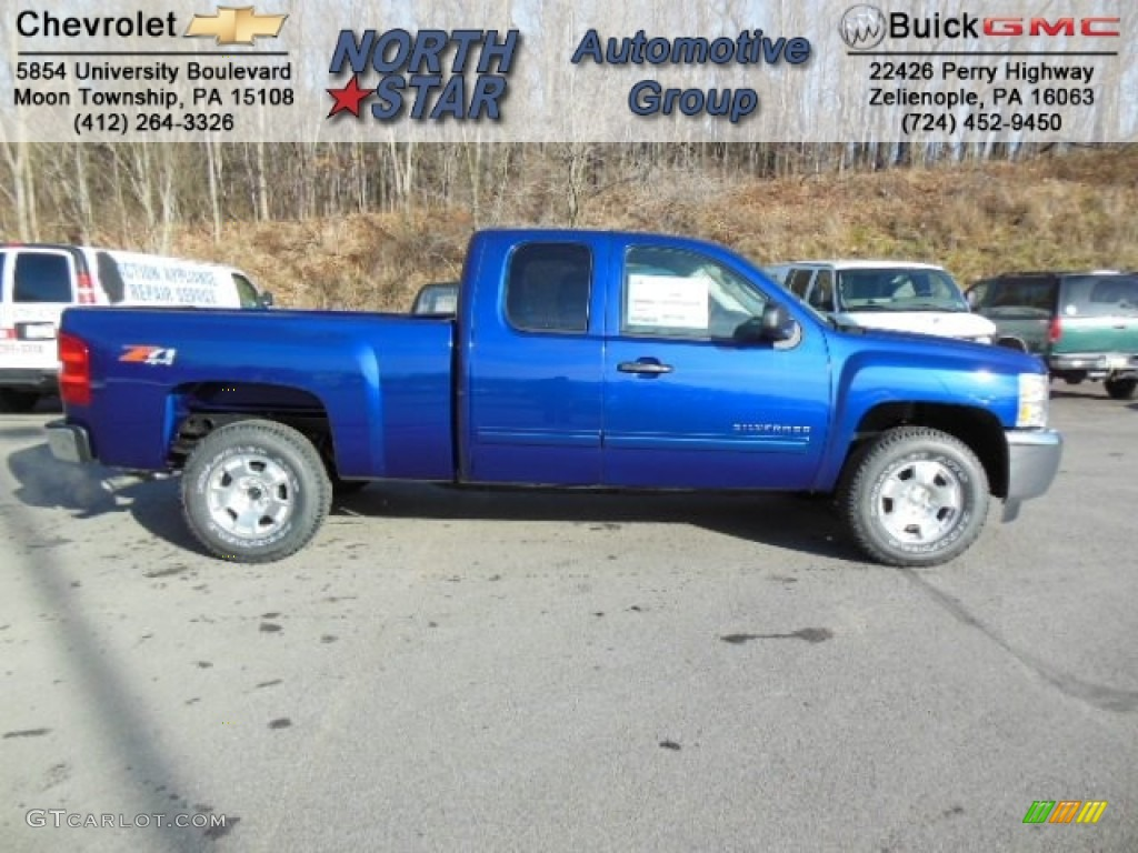 2013 Silverado 1500 LT Extended Cab 4x4 - Blue Topaz Metallic / Ebony photo #1