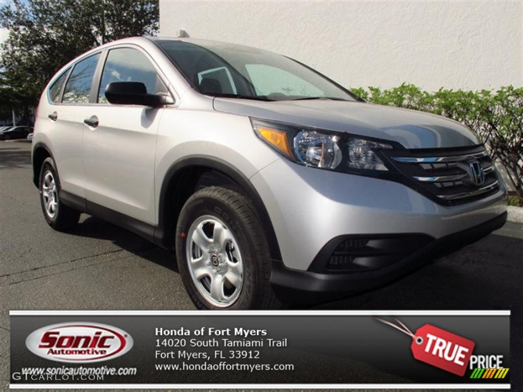 2013 CR-V LX - Alabaster Silver Metallic / Gray photo #1
