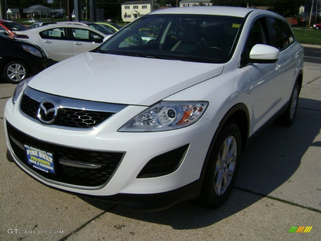 2011 crystal white pearl mica mazda cx 9 touring awd. Black Bedroom Furniture Sets. Home Design Ideas
