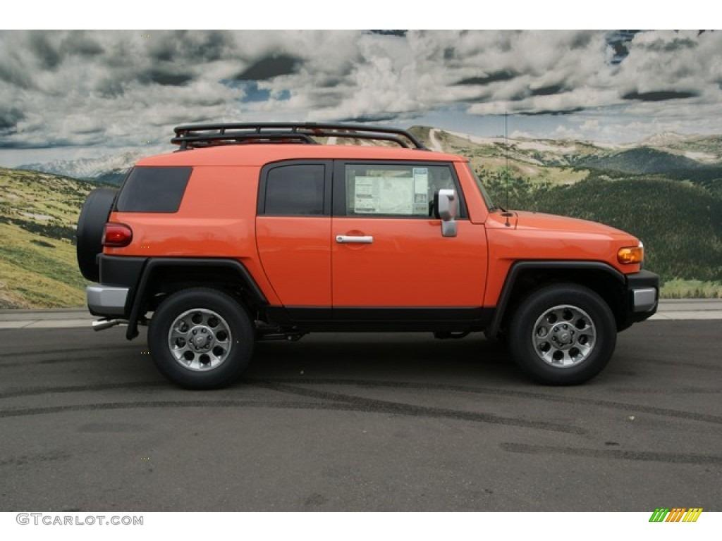 magma orange 2013 toyota fj cruiser 4wd exterior photo 74500610. Black Bedroom Furniture Sets. Home Design Ideas