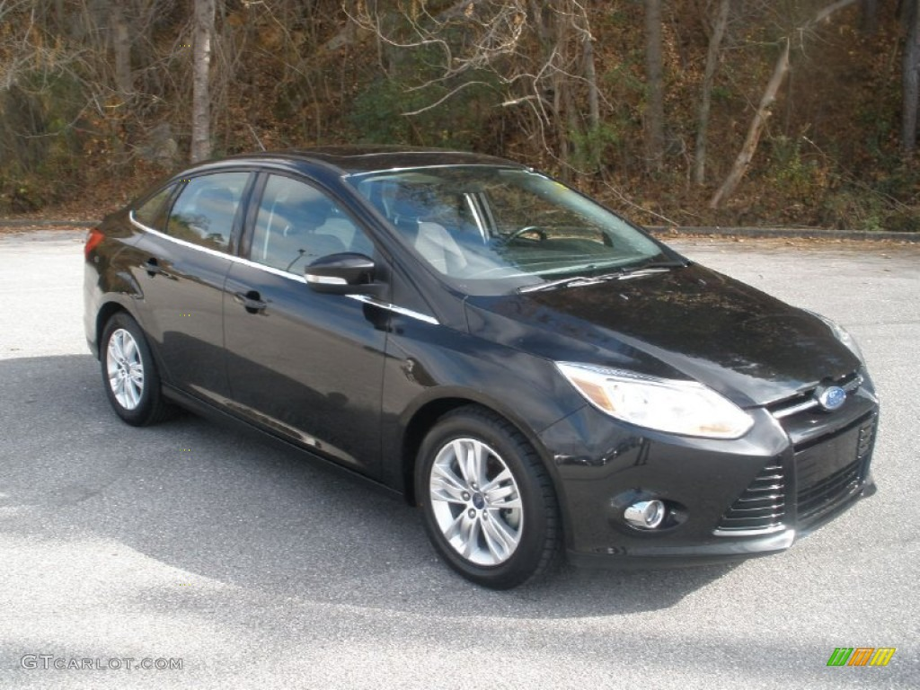 2012 Focus SEL Sedan - Tuxedo Black Metallic / Charcoal Black photo #1