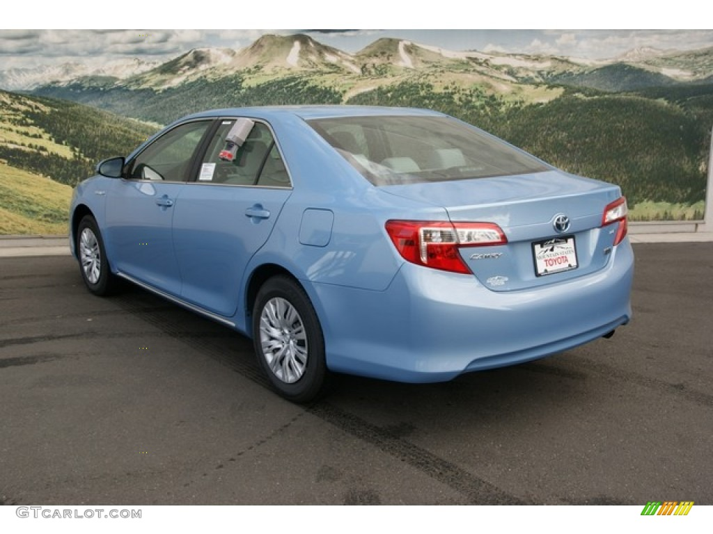 2012 clearwater blue metallic toyota camry hybrid le 74489411 photo 2 car. Black Bedroom Furniture Sets. Home Design Ideas