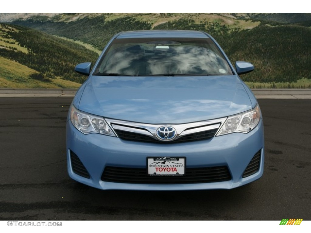 2012 clearwater blue metallic toyota camry hybrid le 74489411 photo 3 car. Black Bedroom Furniture Sets. Home Design Ideas