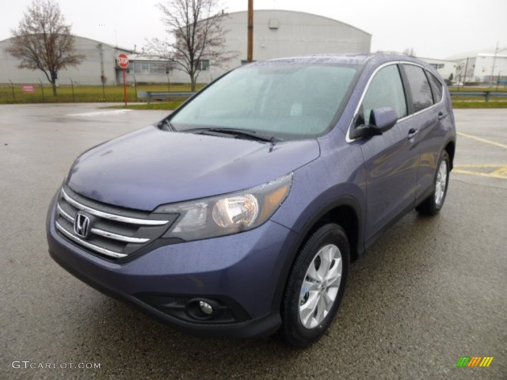 Twilight Blue Metallic 2013 Honda Cr V Ex Awd Exterior Photo 74519456