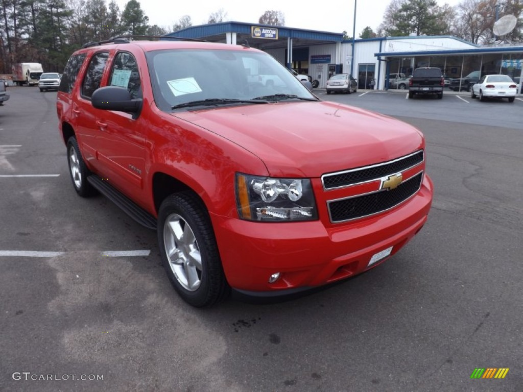 Victory Red 2013 Chevrolet Tahoe Lt Exterior Photo 74530974