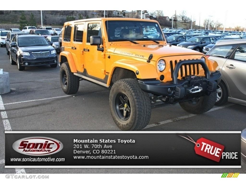 2012 Dozer Yellow Jeep Wrangler Unlimited Rubicon 4x4 ...