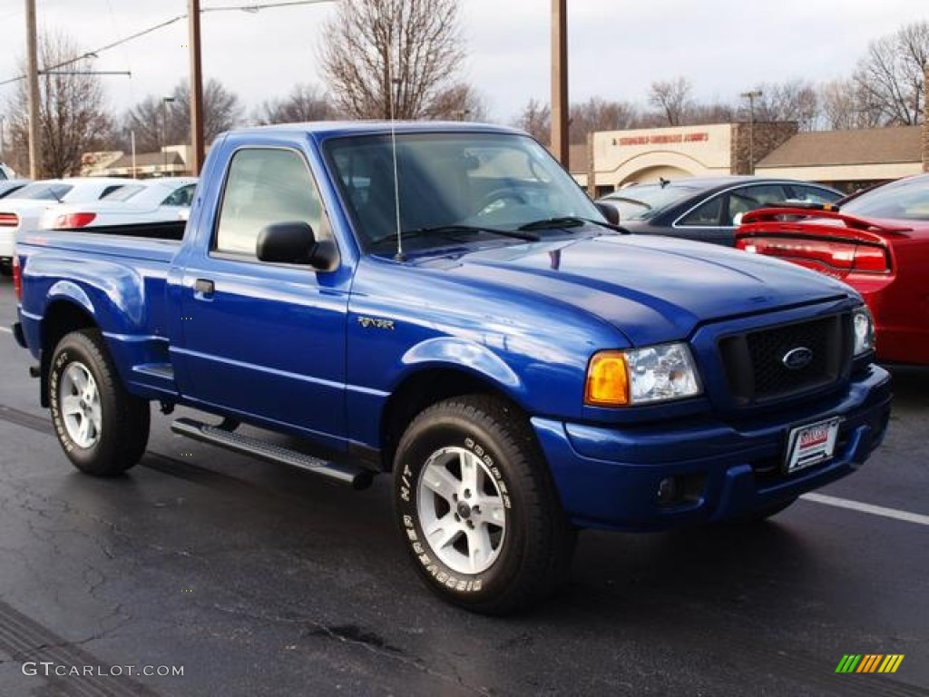 sonic blue metallic 2004 ford ranger edge regular cab 4x4. Black Bedroom Furniture Sets. Home Design Ideas