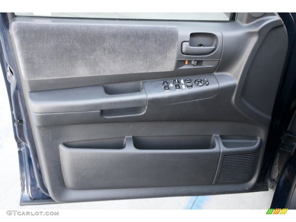 2001 Dodge Dakota Slt Quad Cab Dark Slate Gray Door Panel Photo 74574290