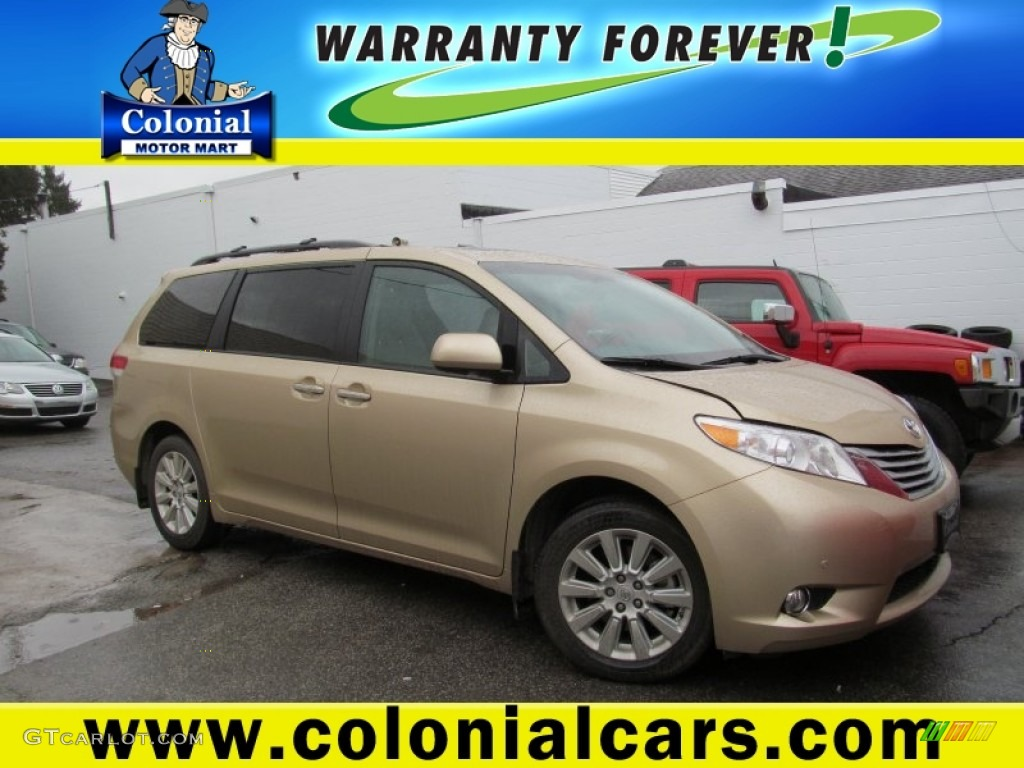 2012 Sienna XLE AWD - Sandy Beach Metallic / Bisque photo #1