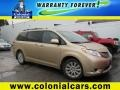 2012 Sandy Beach Metallic Toyota Sienna XLE AWD  photo #1