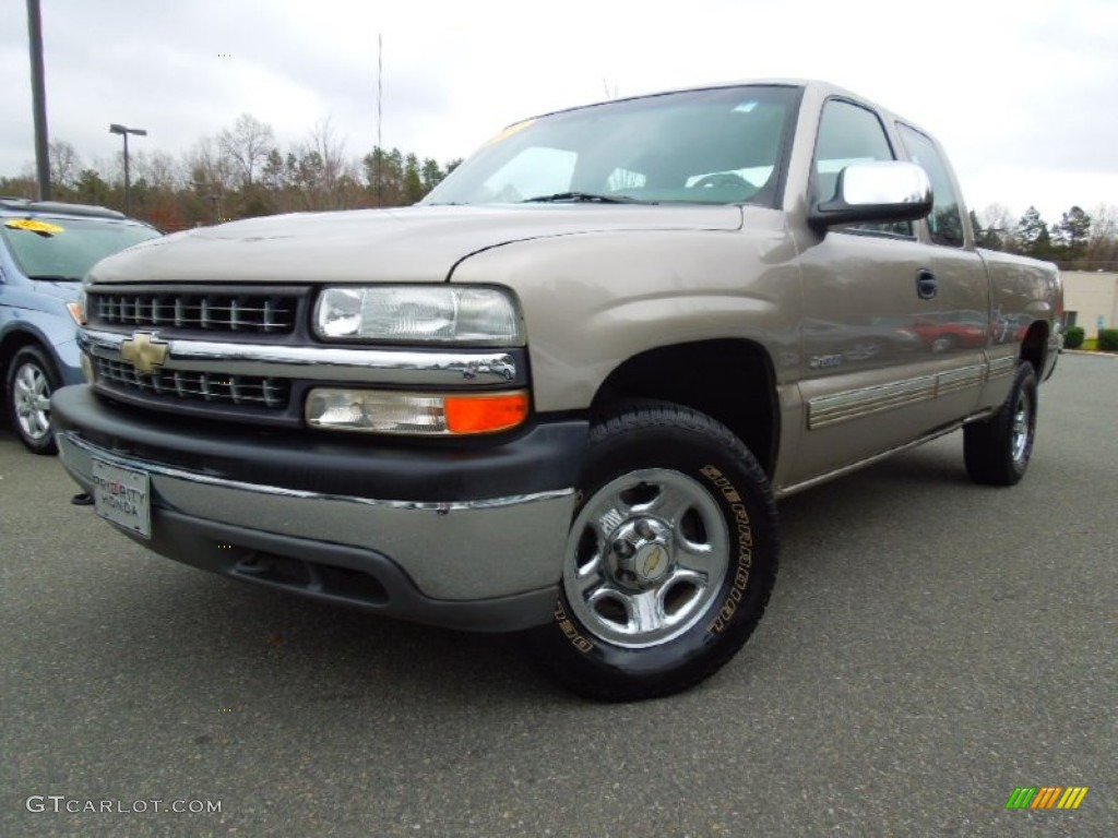 Light Pewter Metallic 2000 Chevrolet Silverado 1500 LS Extended Cab 4x4 Exterior Photo #74592341
