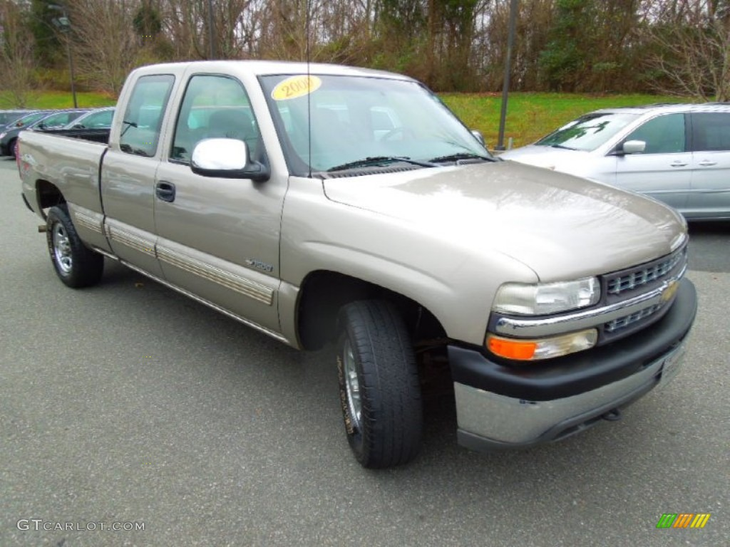 Light Pewter Metallic 2000 Chevrolet Silverado 1500 LS Extended Cab 4x4 Exterior Photo #74592436