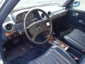 1985 E Class Blue Interior