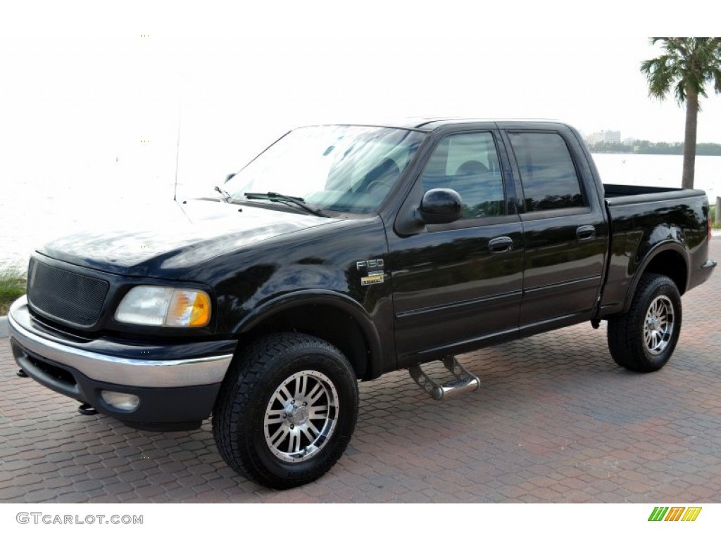 black 2001 ford f150 lariat supercrew 4x4 exterior photo 74614468. Cars Review. Best American Auto & Cars Review