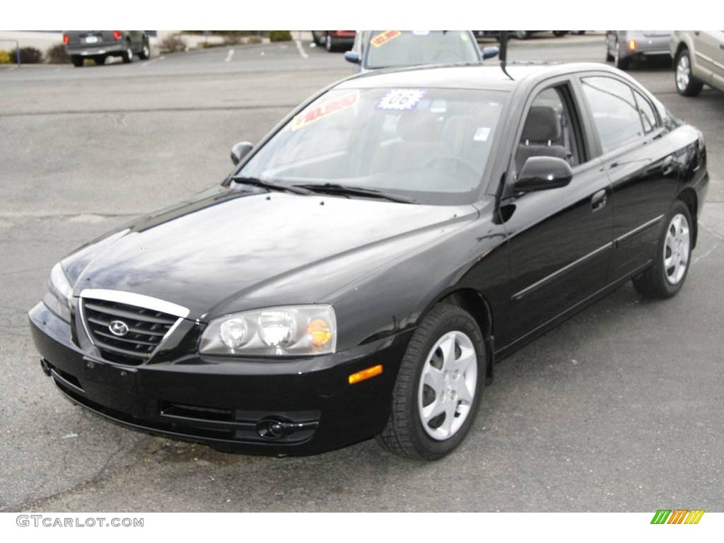 Ebony Black Hyundai Elantra. Hyundai Elantra GLS Sedan