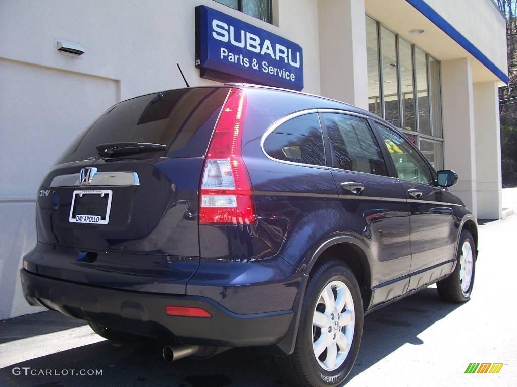 2008 CR-V EX 4WD - Royal Blue Pearl / Black photo #3