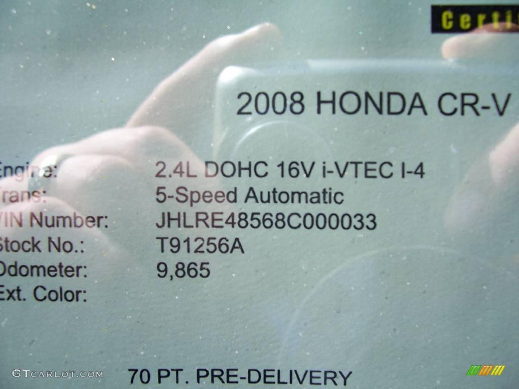 2008 CR-V EX 4WD - Royal Blue Pearl / Black photo #23