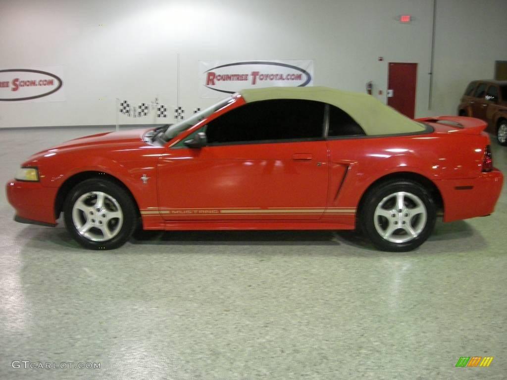 2000 laser red metallic ford mustang v6 convertible. Black Bedroom Furniture Sets. Home Design Ideas