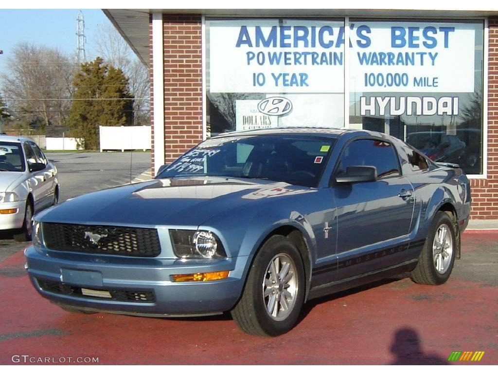 2007 Mustang V6 Premium Coupe - Windveil Blue Metallic / Dark Charcoal photo #1