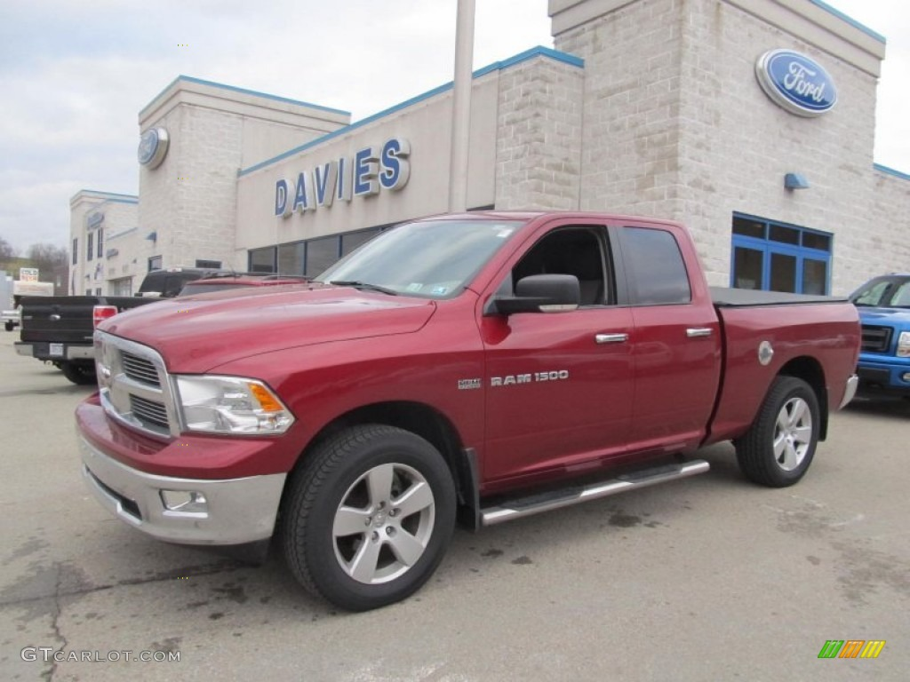 2011 Ram 1500 Big Horn Quad Cab 4x4 - Deep Cherry Red Crystal Pearl / Dark Slate Gray/Medium Graystone photo #1