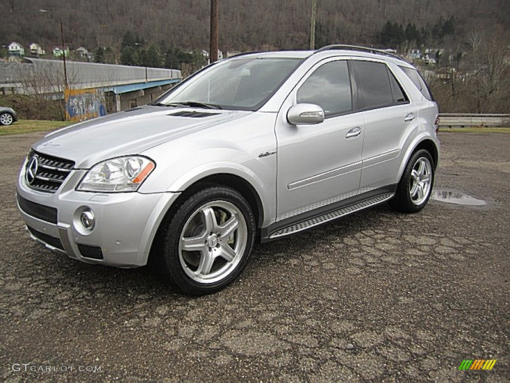2007 iridium silver metallic mercedes benz ml 63 amg 4matic 74624823 car color. Black Bedroom Furniture Sets. Home Design Ideas