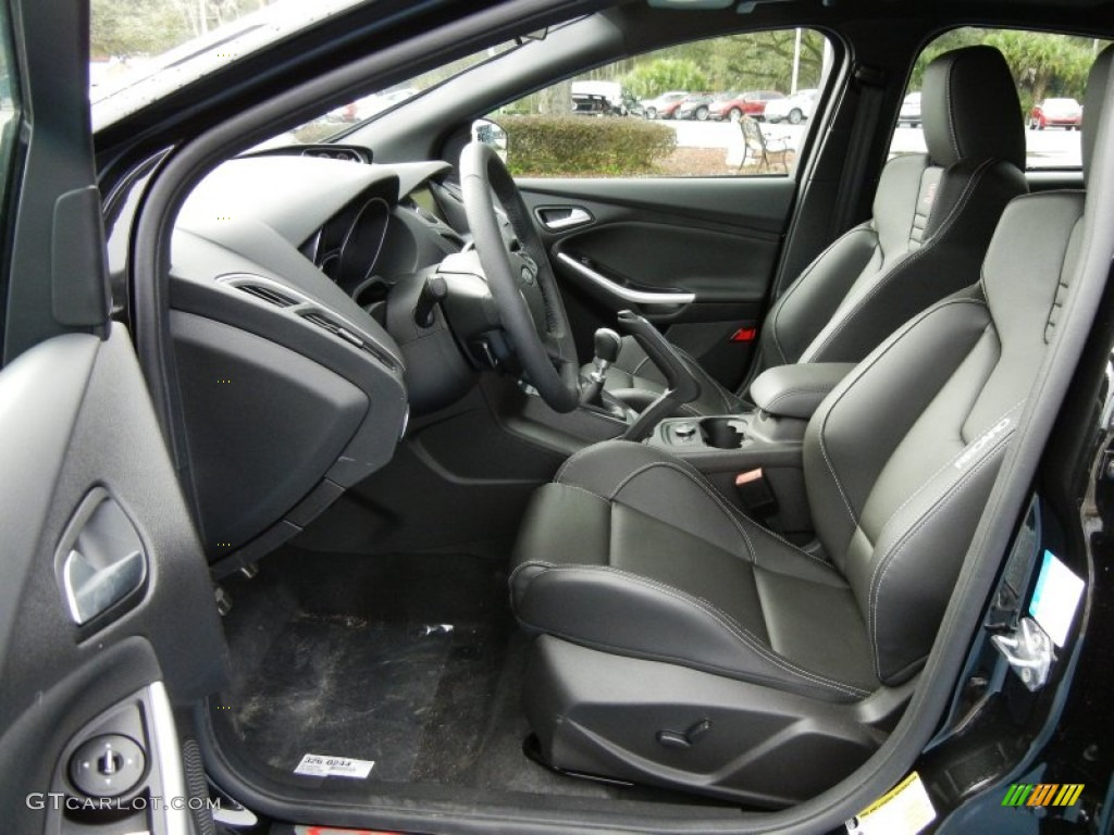 st charcoal black full leather recaro seats interior 2013 ford focus st hatchback photo