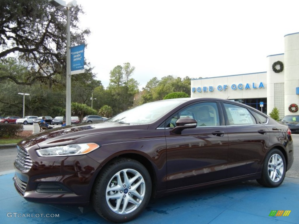 2013 Fusion SE - Bordeaux Reserve Red Metallic / Dune photo #1