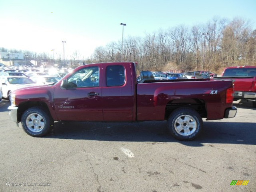2013 Silverado 1500 LT Extended Cab 4x4 - Deep Ruby Metallic / Ebony photo #5