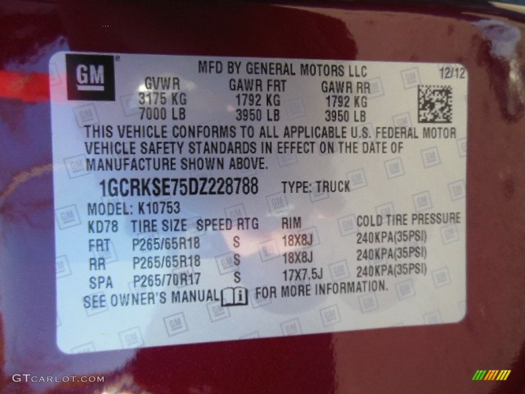 2013 Silverado 1500 LT Extended Cab 4x4 - Deep Ruby Metallic / Ebony photo #20
