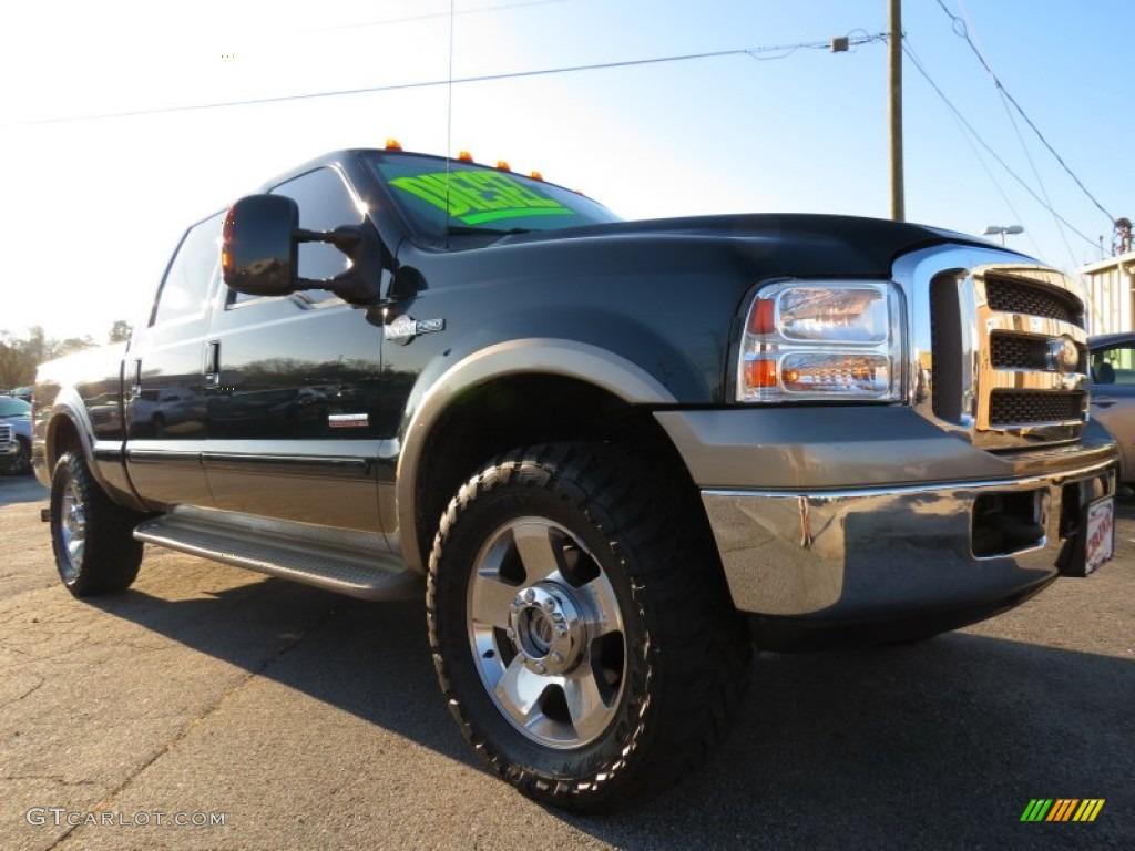 Dark green satin metallic ford f250 super duty