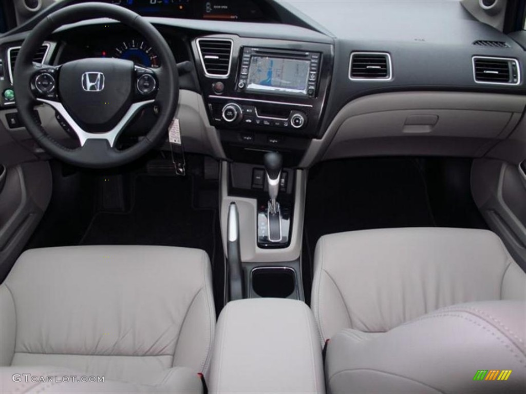2013 Honda Civic Ex L Sedan Gray Dashboard Photo 74748973