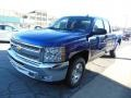 2013 Blue Topaz Metallic Chevrolet Silverado 1500 LT Extended Cab 4x4  photo #4