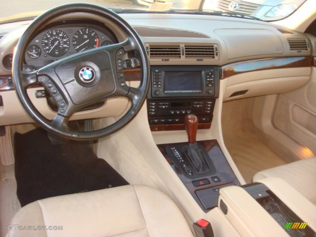 Sand Beige Interior 2001 Bmw 7 Series 740il Sedan Photo