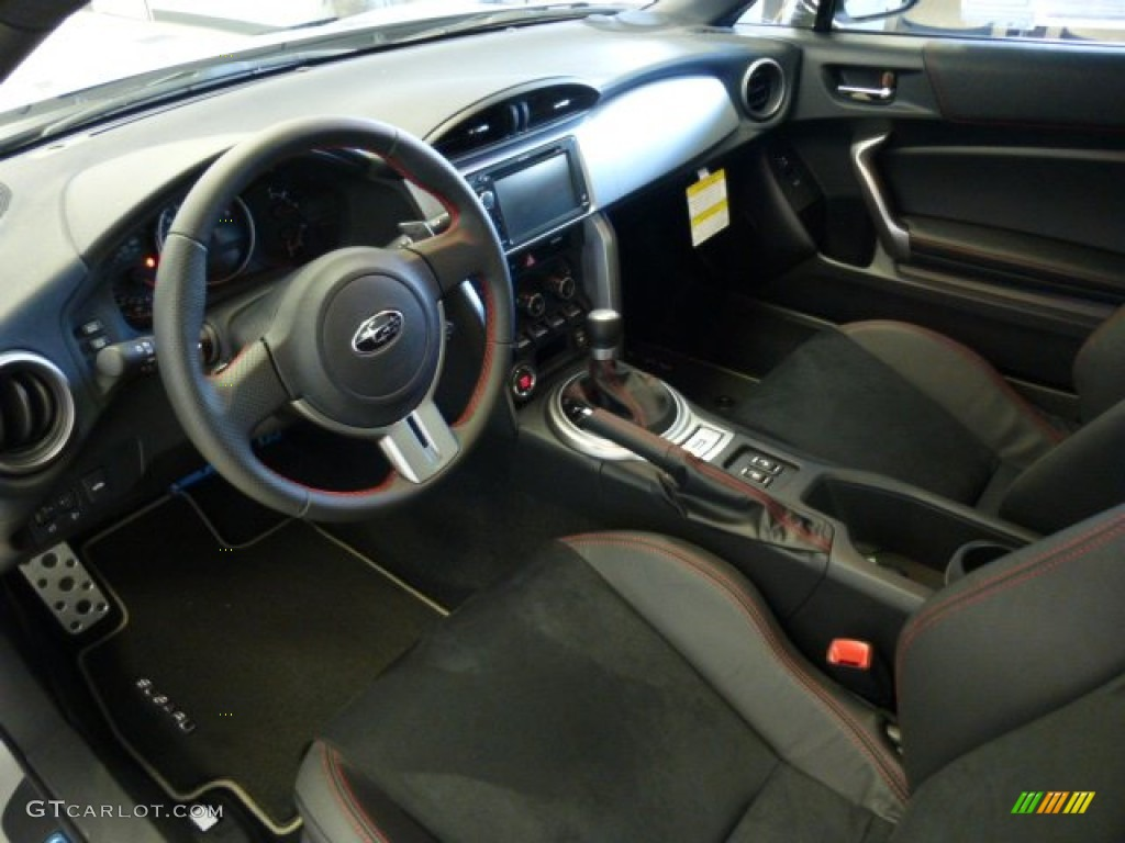 Black Leather Alcantara Interior 2013 Subaru Brz Limited