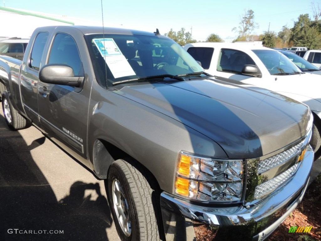 2012 Silverado 1500 LT Extended Cab - Graystone Metallic / Ebony photo #1