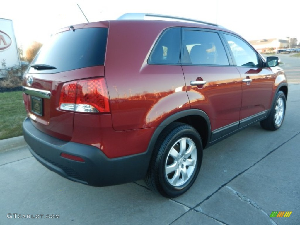 2011 Sorento LX - Spicy Red / Gray photo #3