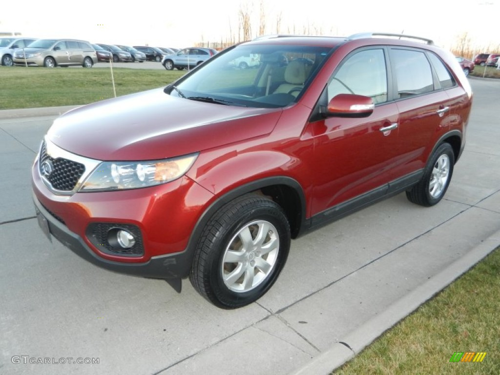2011 Sorento LX - Spicy Red / Gray photo #7