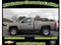 2012 Graystone Metallic Chevrolet Silverado 1500 LS Regular Cab 4x4  photo #1