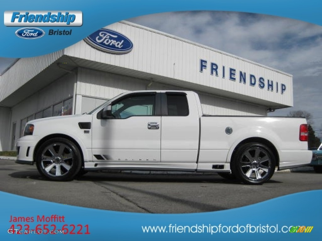2007 f150 saleen s331 supercharged supercab oxford white saleen dark charcoal photo 1