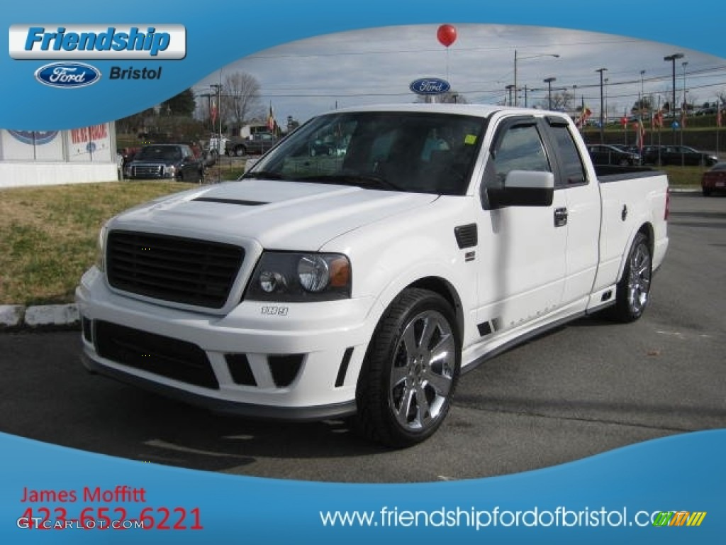 2007 f150 saleen s331 supercharged supercab oxford white saleen dark charcoal photo 2
