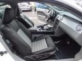2008 Ford Mustang Charcoal Black/Dove Interior Front Seat Photo