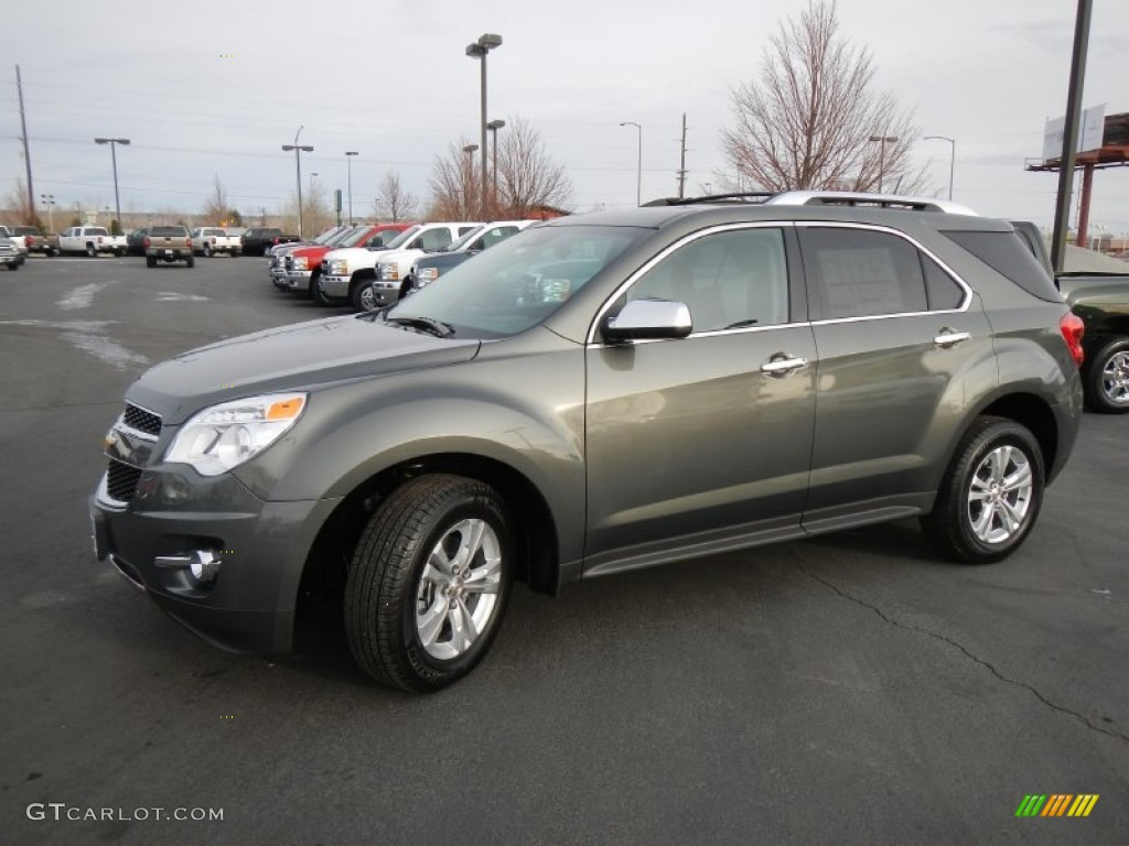 Steel Green Metallic 2013 Chevrolet Equinox LTZ AWD Exterior Photo #74877668 | GTCarLot.com