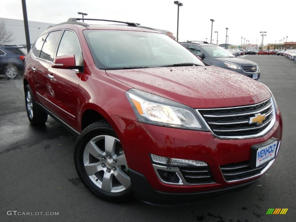 2013 crystal red tintcoat chevrolet traverse ltz awd. Black Bedroom Furniture Sets. Home Design Ideas