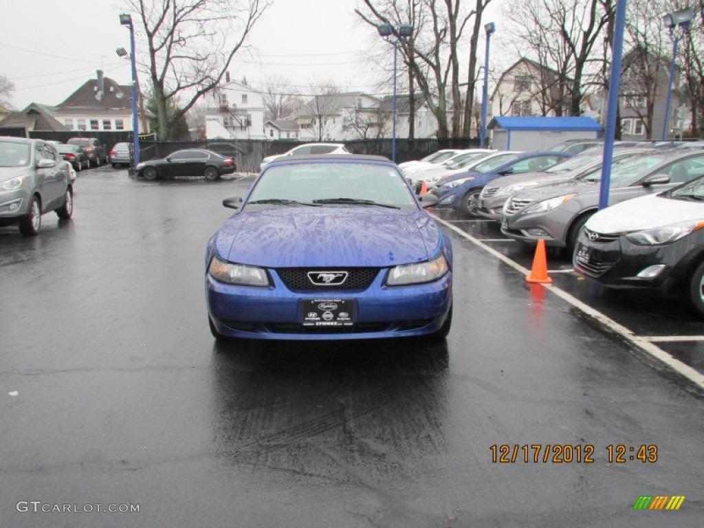 2003 Mustang V6 Convertible - True Blue Metallic / Dark Charcoal photo #1