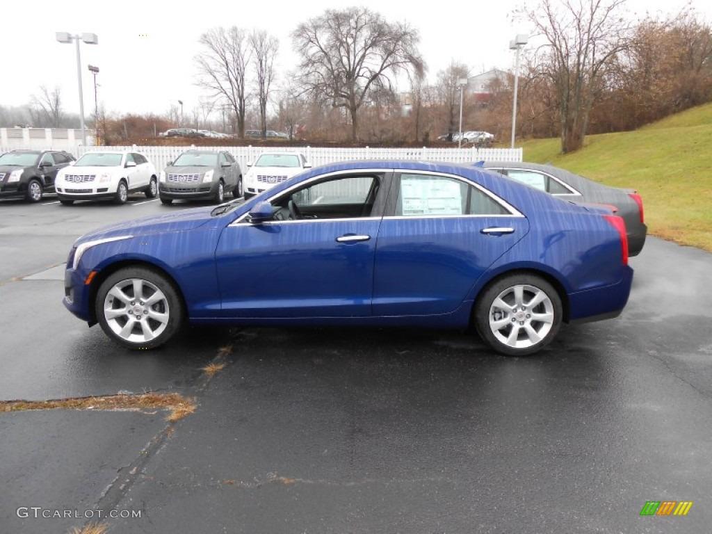 2013 Opulent Blue Metallic Cadillac Ats 2 5l 74879320 Photo 4 Car Color Galleries