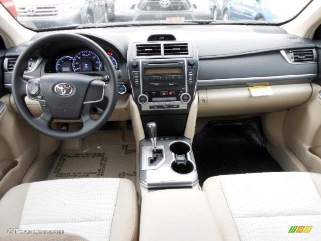 2012 toyota camry hybrid le ivory dashboard photo. Black Bedroom Furniture Sets. Home Design Ideas