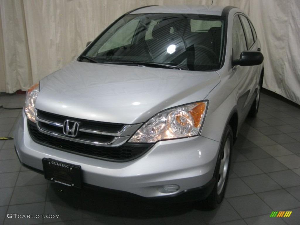 2010 CR-V LX AWD - Alabaster Silver Metallic / Black photo #1