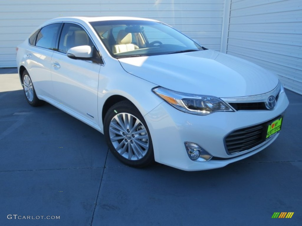 2013 blizzard white pearl toyota avalon hybrid limited 74879576 car color. Black Bedroom Furniture Sets. Home Design Ideas