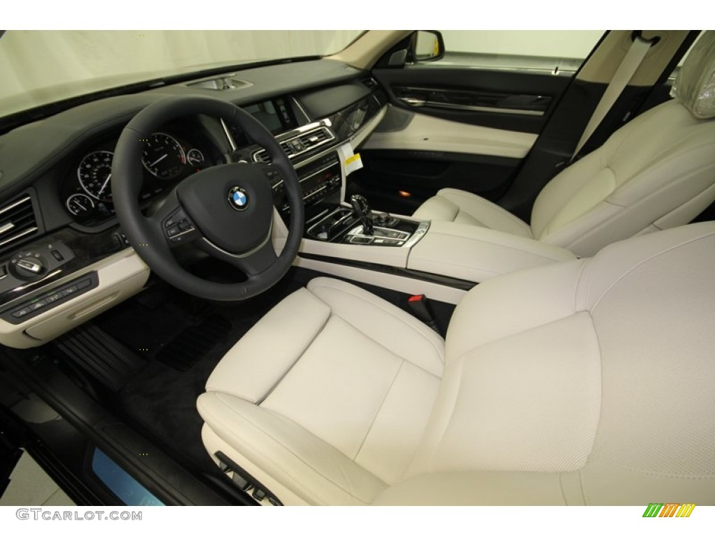 Ivory White Black Interior 2013 BMW 7 Series 750Li Sedan Photo 74925949